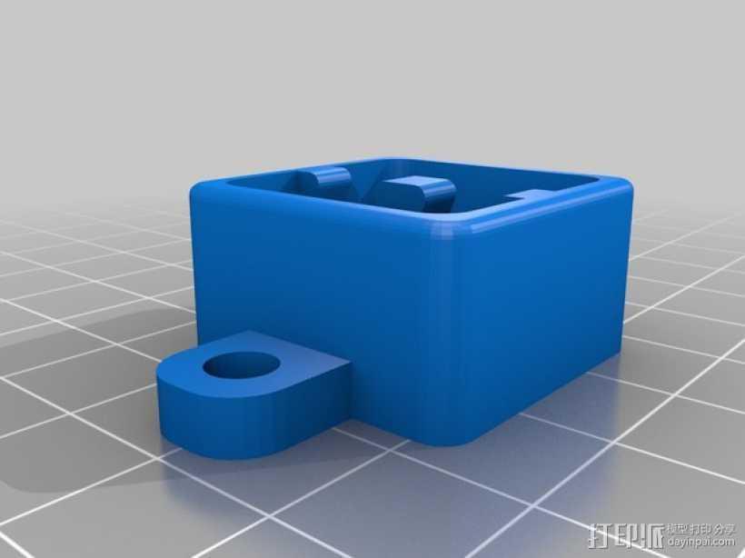 耳塞盒钥匙扣 3D打印模型渲染图