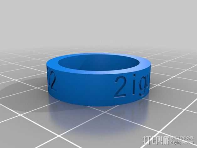 2iguys 戒指 3D打印模型渲染图