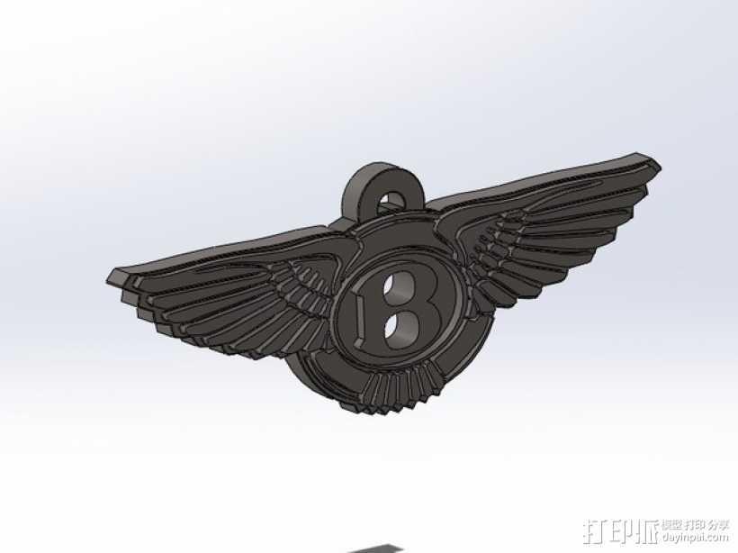 宾利汽车 钥匙扣 3D打印模型渲染图