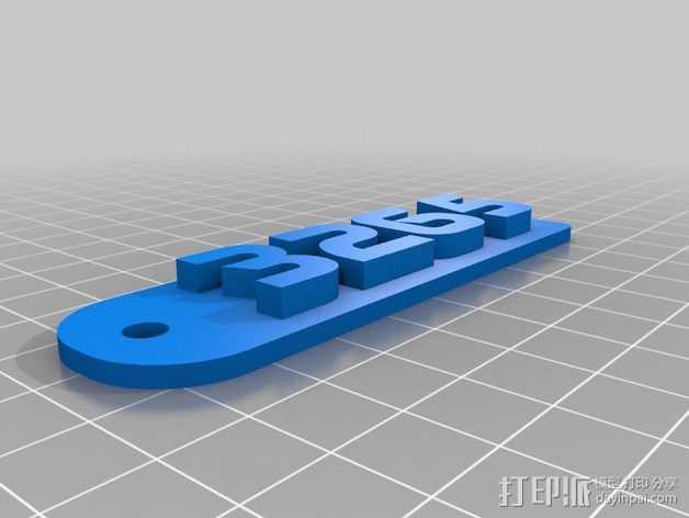 3265钥匙扣 3D打印模型渲染图