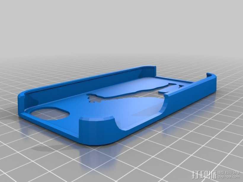 长颈鹿iPhone 4s手机保护壳 3D打印模型渲染图