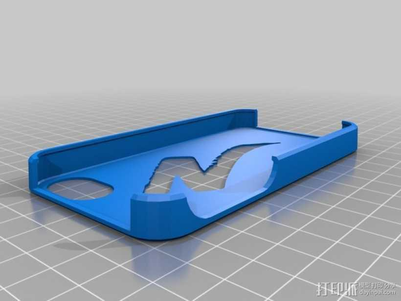 自行车标志iPhone4s手机外壳 3D打印模型渲染图