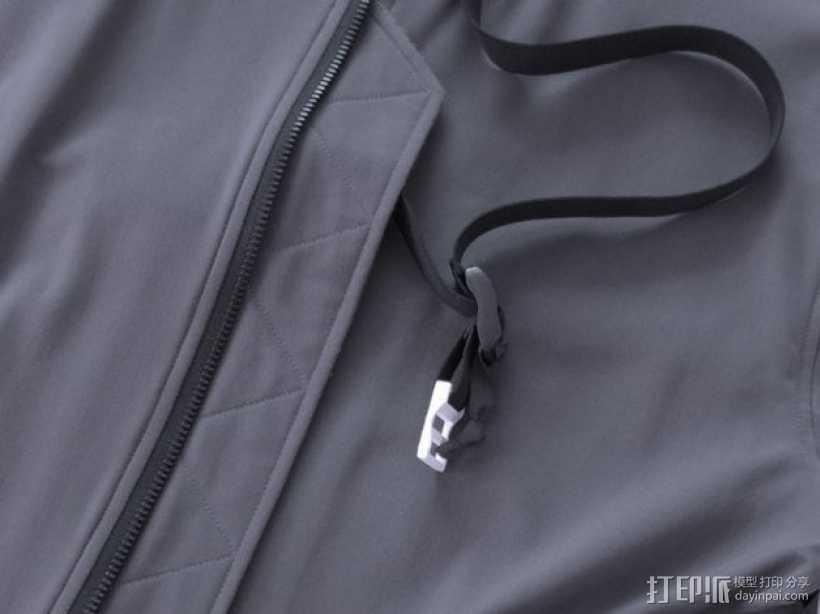 夹克衫衣带扣 3D打印模型渲染图