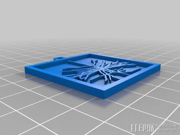视网膜神经 挂饰 3D打印模型渲染图