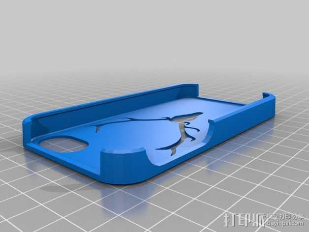 驯鹿角Iphone 4手机保护套 3D打印模型渲染图