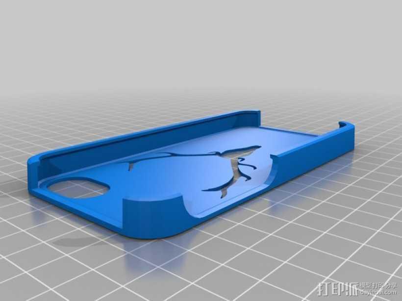 驯鹿角Iphone5手机保护套 3D打印模型渲染图