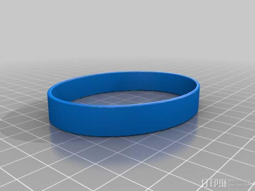 弹性手镯 3D打印模型渲染图