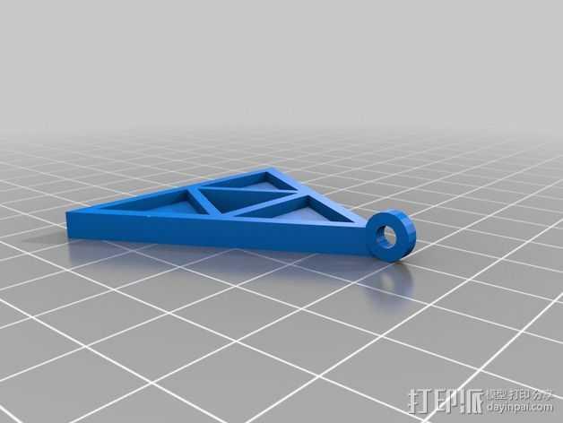 三角神力 项链坠 3D打印模型渲染图