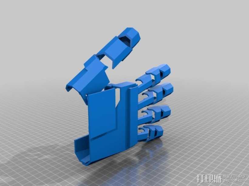 铠甲手套 3D打印模型渲染图