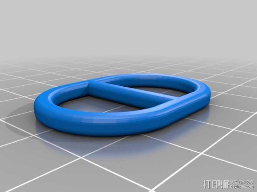 围巾环 3D打印模型渲染图