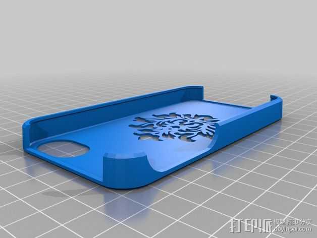 锦缎花纹Iphone4手机套 3D打印模型渲染图