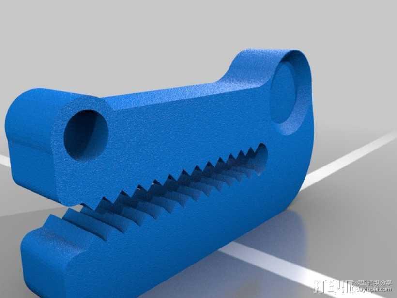 鳄鱼头挂钩 3D打印模型渲染图