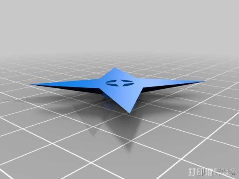 四角星 飞镖 3D打印模型渲染图