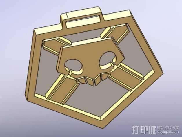 死神 钥匙扣 3D打印模型渲染图