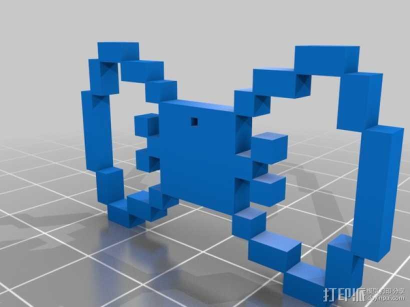 蝴蝶结吊坠 3D打印模型渲染图