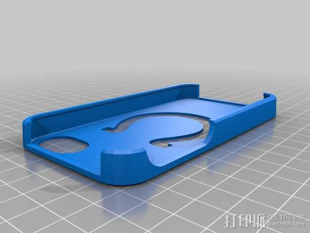 雄马队 标志 手机套 3D打印模型渲染图
