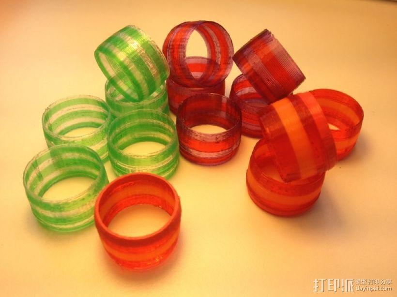 撞色指环 3D打印模型渲染图