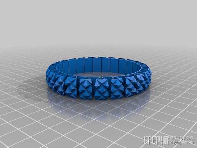 可拉伸手环 3D打印模型渲染图