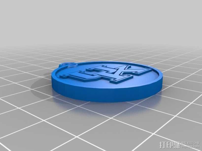 篮球挂件 3D打印模型渲染图