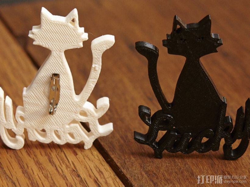 招财猫 3D打印模型渲染图