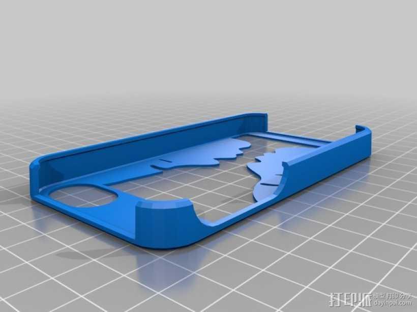 Pedro漏字板 iPhone4/4s手机壳 3D打印模型渲染图