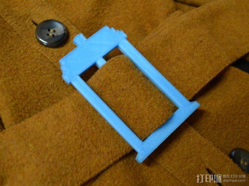 TARDIS腰带扣 3D打印模型渲染图