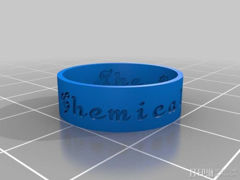 刻字戒指 3D打印模型渲染图