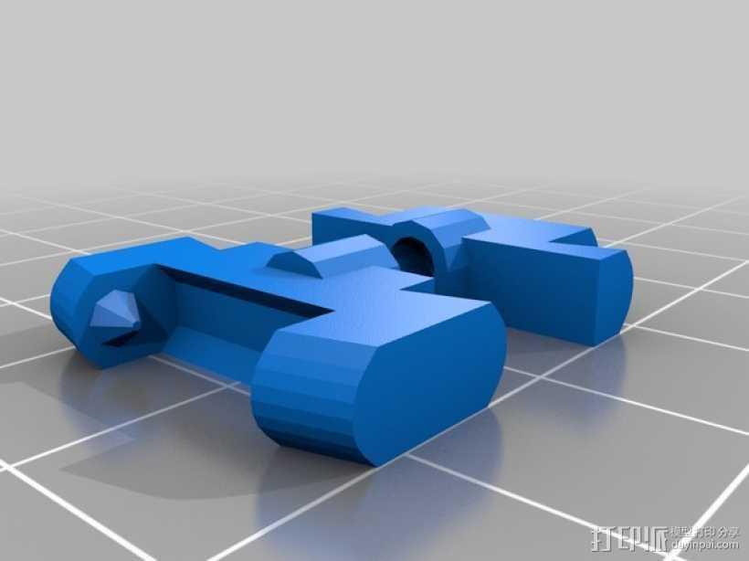 手镯衔接扣 3D打印模型渲染图