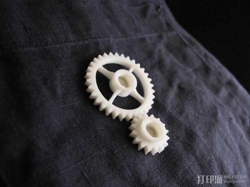 齿轮传动链 3D打印模型渲染图