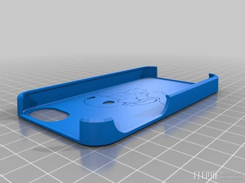 松鼠图案iPhone4手机保护套 3D打印模型渲染图