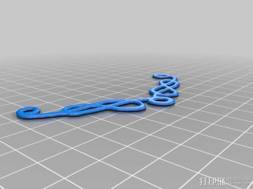 凯尔特项链 3D打印模型渲染图