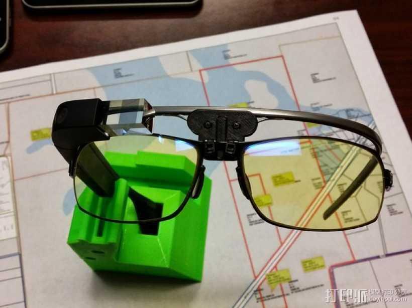 谷歌眼镜 眼镜横梁 3D打印模型渲染图