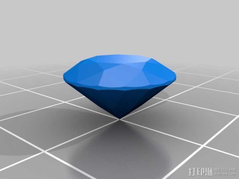 钻石 模型 3D打印模型渲染图