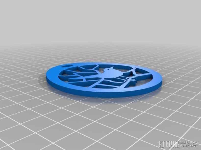 小鸟项链坠 3D打印模型渲染图