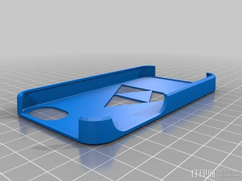 三角神力iPhone4手机壳 3D打印模型渲染图