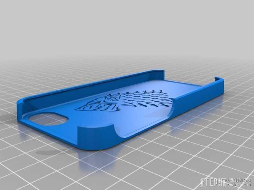 斯塔克家族 iPhone5手机保护套 3D打印模型渲染图