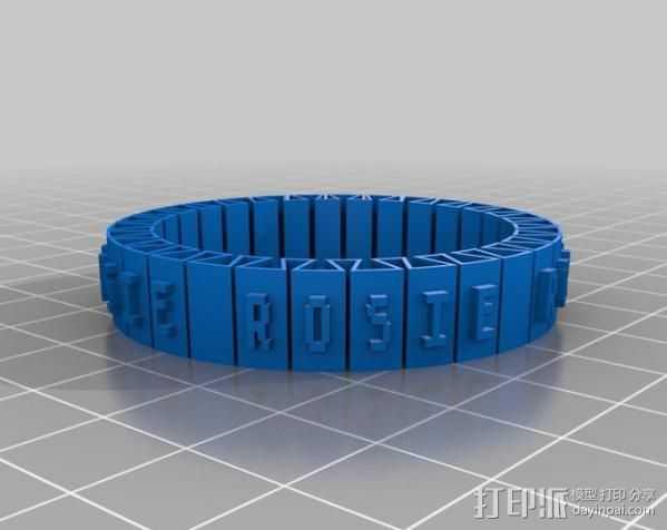 Rosie手镯 3D打印模型渲染图