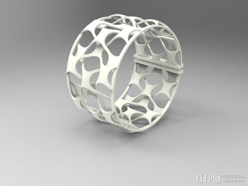 网状手镯 3D打印模型渲染图