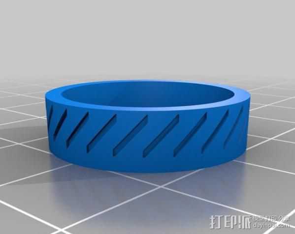 斜纹戒指 3D打印模型渲染图