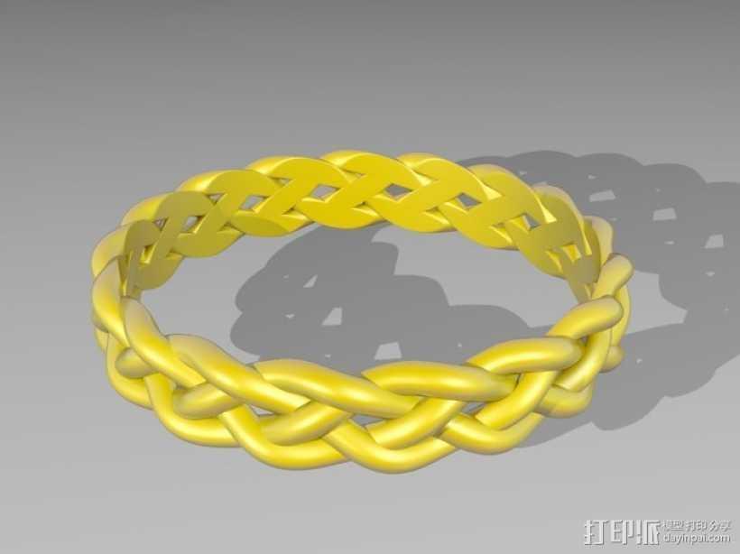 麻花辫手环 3D打印模型渲染图