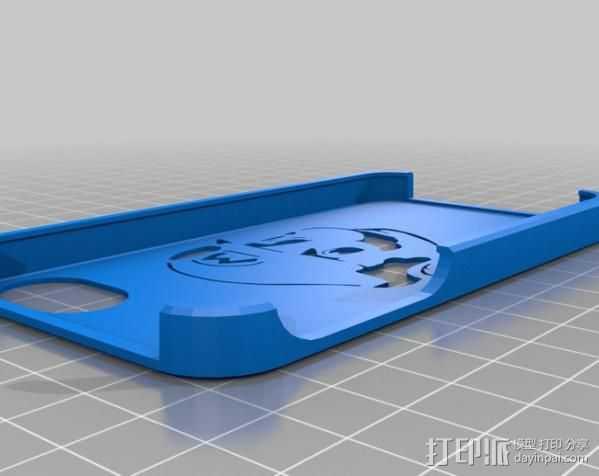 超级玛丽iPhone外壳 3D打印模型渲染图