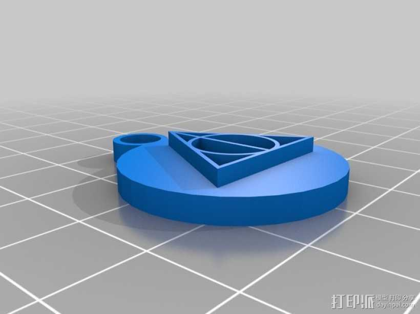 哈利波特耳环 3D打印模型渲染图