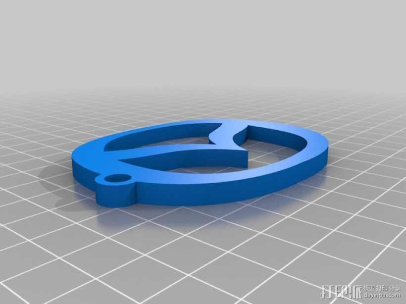 马自达钥匙扣 3D打印模型渲染图