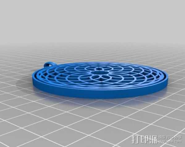 万花筒挂饰 3D打印模型渲染图