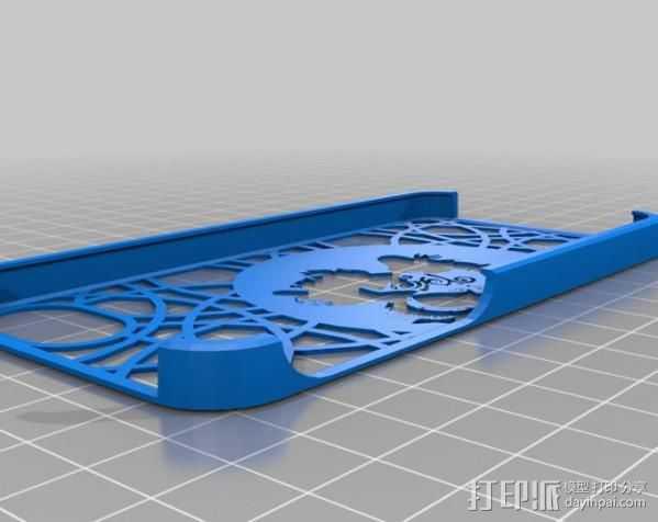 艺术风手机壳 3D打印模型渲染图