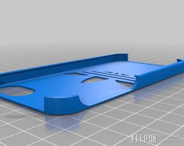 阿迪达斯iPhone5手机壳 3D打印模型渲染图