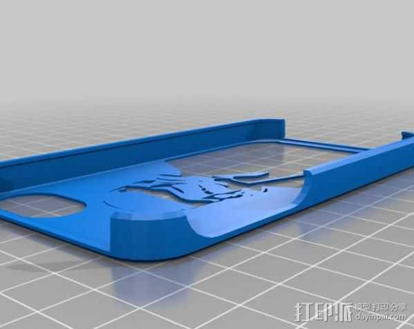 暴风部队的IPhone 4S外壳 3D打印模型渲染图