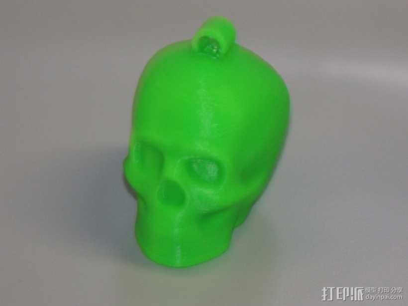 Lisa头骨模型钥匙扣 3D打印模型渲染图