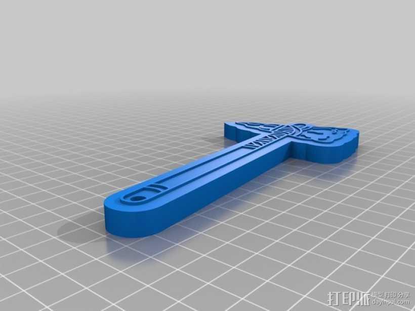 亚特兰大勇士队的战斧 3D打印模型渲染图