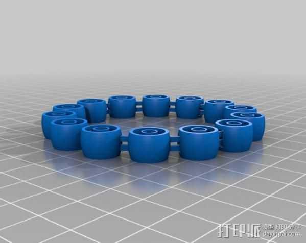 定制手环 3D打印模型渲染图